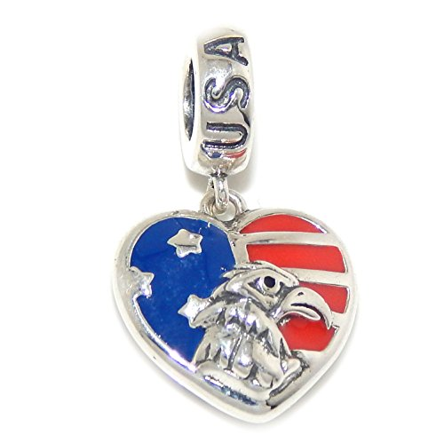 Sterling Silver Eagle Solid Charm (Solid 925 Sterling Silver Dangling