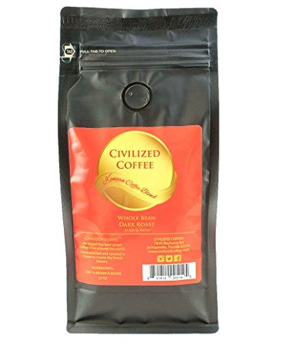 CIVILIZED COFFEE- African Kenyan AA Blend, Dark Roast, Whole Bean, Arabica Coffee