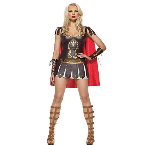 Fashion-Cos1 Halloween Costume for Women Sexy Caribbean Captain Pirate Costumes Adult Female Warrior Fancy Cosplay Dress Clothing Carnival Vintage Greek/Spanish Gladiator Costume -