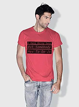 Creo I Hate Being Sexy Funny T-Shirts For Men - Xl, Pink