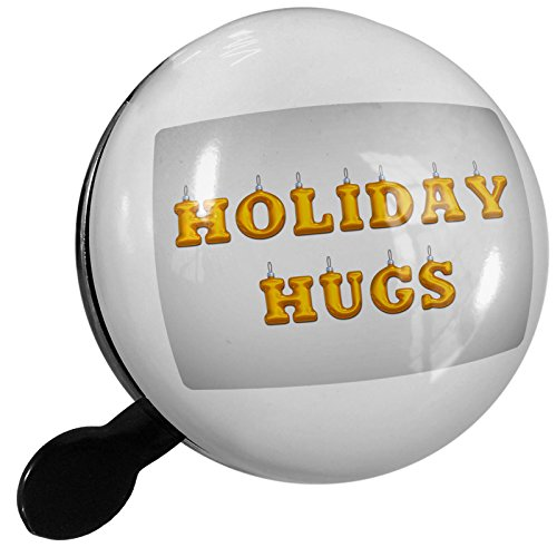 Small Bike Bell Holiday Hugs Christmas Ornament - NEONBLOND (Ornament Bicycle Holiday)