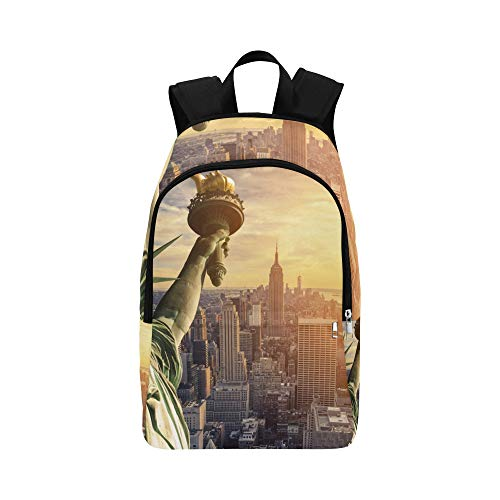(APJDFNKL New York City Landmark Statue of Liberty Casual Daypack Travel Bag College School Backpack for Mens and)