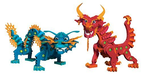 Bloco Toys Aqua and Pyro Dragons by Bloco Toys