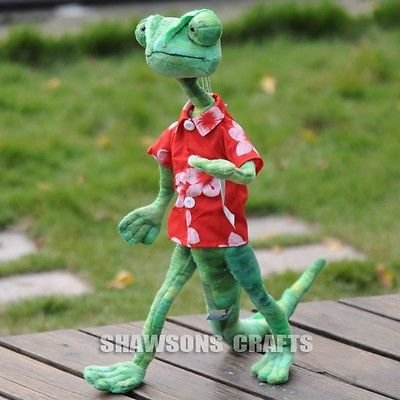 Captain Planet Heart Costume (TONGROU RANGO MOVIE CHARACTER PLUSH STUFFED TOY LIZARD DOLL 18