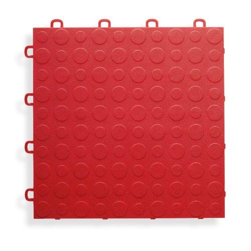 BlockTile B0US4330 Garage Flooring Interlocking Tiles Coin Top Pack,  Red, 30-Pack - Garage Vinyl Flooring