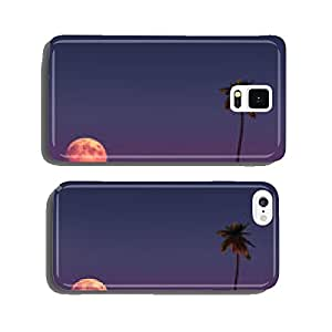 Landscape with the moon and a palm cell phone cover case Samsung S6