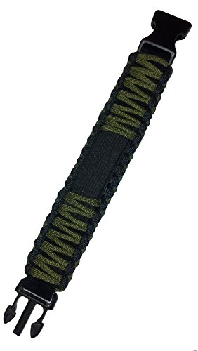 SURVCO Adjustable 550 Para Cord Watch Band - Survival, First Aid Kit, Emergency, Apocalypse, Zombie