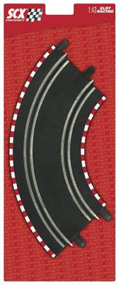 SCX Compact 1: 43 Scale 4-pc. Curved Curve Track (Compact Track)