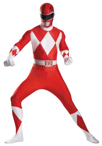 (Red Ranger Deluxe Bodysuit Adult Costume - X-Large)