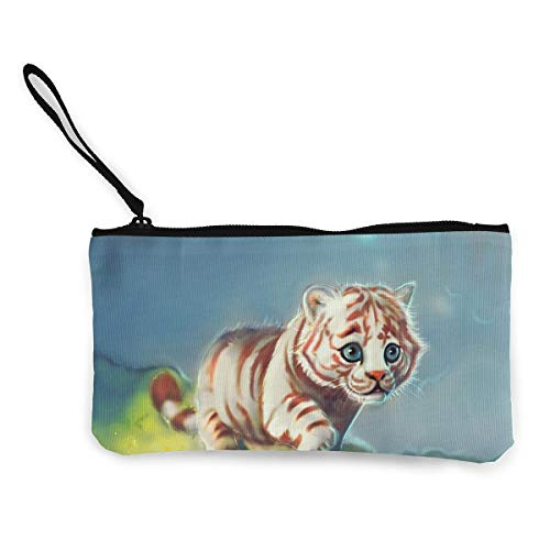Oomato Canvas Coin Purse Tiger Baby Cosmetic Makeup