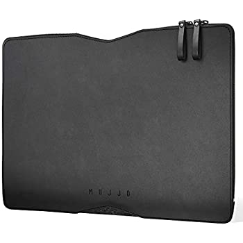 newest collection 48416 2629a Mujjo Folio Sleeve for 13-inch MacBook Pro (3rd 4th Gen), MacBook Air 2018,  12.9-inch iPad Pro (1st 2nd 3rd Gen) | Wool Felt & Tanned Leather (Black)