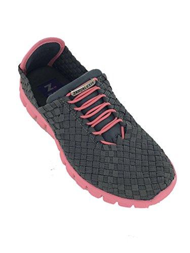 Fashion Melon Charcoal Sneakers Zee Danielle Alexis Women's txqwaaH7