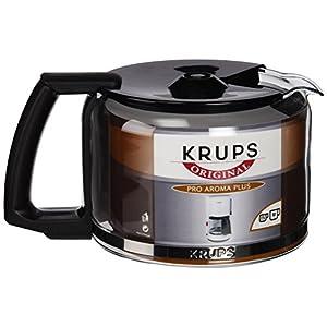 Krups F 034 42 Boccale in vetro 10 tazze, accessorio per macchine da caff, colore: Nero