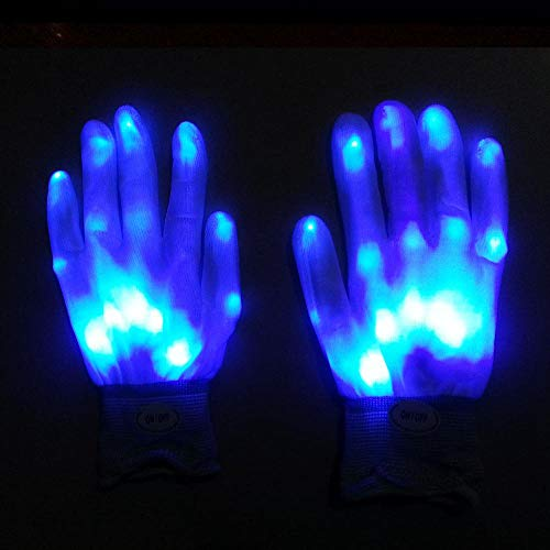 AOLVO Neon LED Light Up Gloves for Kids