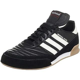 adidas Men's Mundial Goal Soccer Shoe, Black/White/White, 10 M US
