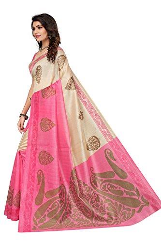 Jaanvi fashion Women's Bhagaluri Silk Paisley Printed Saree (Sai_pallavi_Pink) by Jaanvi fashion (Image #3)