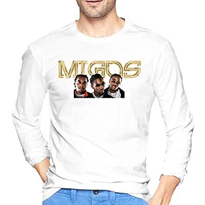Migos ATL Mens Cool Long Sleeve T-Shirt White