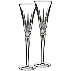 Lismore Diamond Toasting Flute Glass (Set of 2)