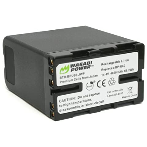 Wasabi Power Battery for Sony BP-U60 and Sony PMW-100, PMW-150, PMW-160, PMW-200, PMW-300, PMW-EX1, PMW-EX1R, PMW-EX3, PMW-EX160, PMW-EX260, PMW-EX280, PMW-F3, PXW-FS5, - Memory Lithium Ion Camcorder Battery