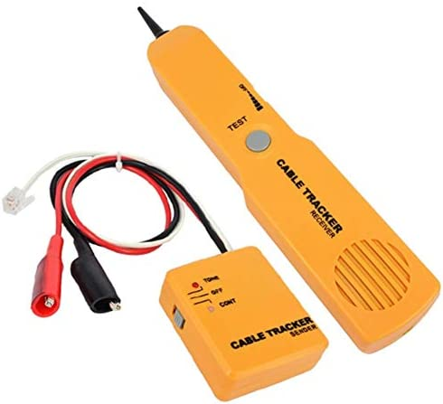 DJG Handheld Cable Tracker, Network Tracker RJ11 Telephone Cable Tester Toner Wire Tracker Diagnose Tone Line Finder Detector Networking Tools