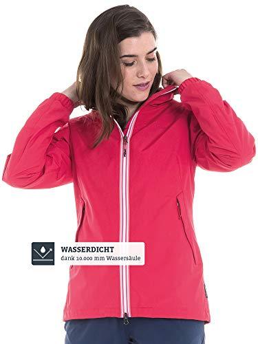 Schöffel Damen Jacket Yokohama2 modische und wasserdichte Damen Jacke, bequeme Regenjacke für Frauen mit integrierter Sicherheitstasche