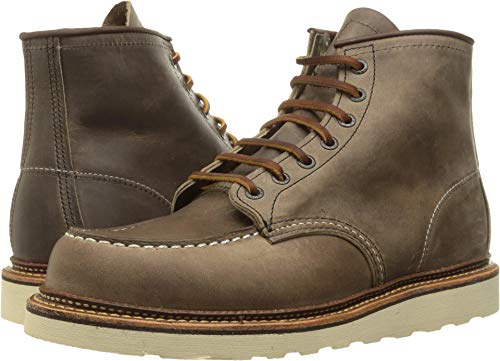 Red Wing Heritage Men's 6 Inch Moc Work Boot, Concrete Rough and Tough, 10.5 D - Wing Boots Work Red Men