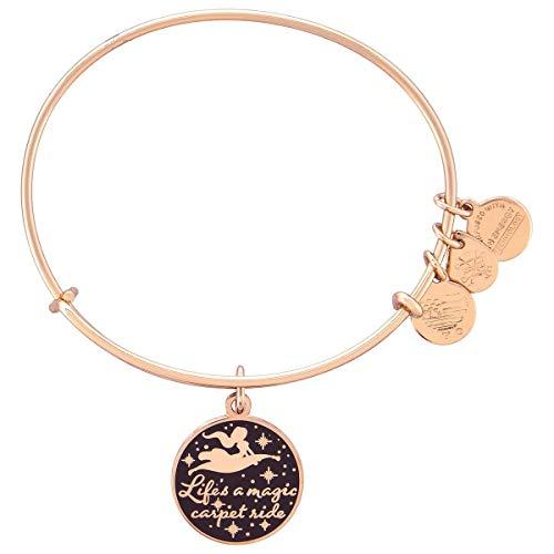 Disney Jasmine Life's a Magic Carpet Ride Bangle Bracelet Rose Gold Alex and ANI Disney Gold Tone Bracelet
