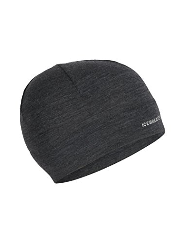 Icebreaker Merino Chase Beanie Cold Weather Hats, One Size, Jet Heather (Ibex Hat Wool)