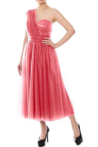 Tulle Gown Formal Length Wedding Convertible Dress Tea Wassermelone Bridesmaid Party MACloth qzgRUxwX