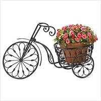 Garden Planter Plant Stand Retro Bicycle Iron Wheelbarrow Black Patio Yard Decor,wheelbarrow wheeled wheel