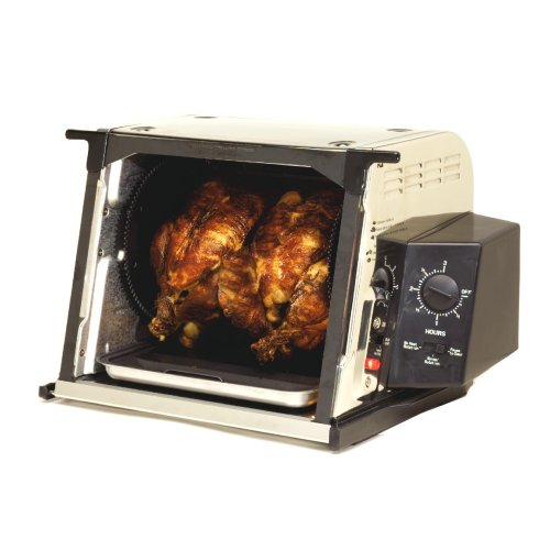 Ronco ST3001SSGEN Showtime Compact Rotisserie and Barbeque Oven, Stainless Steel by Ronco