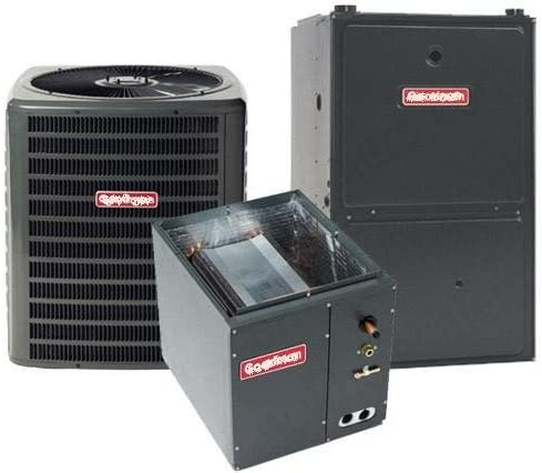 2.5 Ton Goodman 16 SEER R-410A 80/% AFUE 80,000 BTU Two-Stage Upflow Gas Furnace Split System