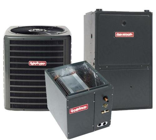 2.5 Ton Goodman 14 SEER R410A 96% AFUE 60,000 BTU Vertical Gas Furnace Split System - Home Heating Gas Furnace