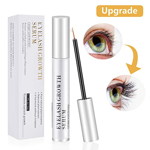 Eyelash Growth Serum, Natural Eyebrow Enhancer, Brow & Lash Enhancing Formula for Longer, Thicker Eyelashes and Eyebrows (5ML)