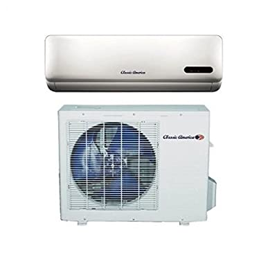 Classic America KFR-35G with GX1a/15 Ductless Wall Mount Mini Split Inverter Air Conditioner with Heat Pump, 12,000 BTU (1 Ton), 15 SEER 110-120 VAC, Full Set