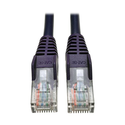 Tripp Lite 25ft Cat5 Cat5e Snagless Molded Patch Cable UTP Purple RJ45 M/M  25' (N001-025-PU)