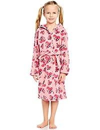 Girls Hooded Fleece Sleep Robe (Size 2 Toddler-14 Years) Variety of Prints