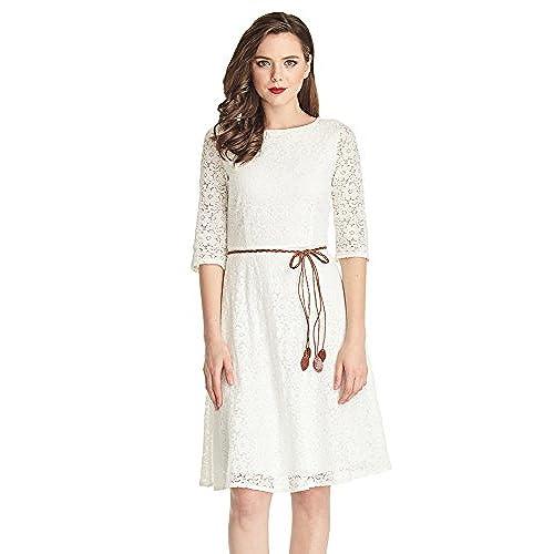 Lace White Dresses: Amazon.com