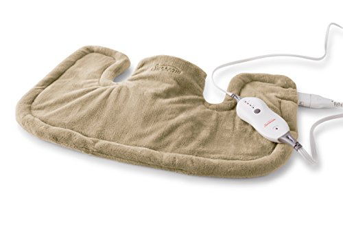 Sunbeam Renue Tension Relief Heating Pad, Brown (Sunbeam Flexible Heating Pad)