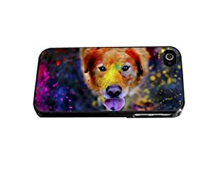 Colorful Paint All Over Adorable golden retriever Dog Photography Hard Snap on Phone Case (iPhone 5/5s)