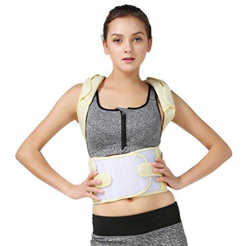 JZLV Adjustable Therapy Back Support Braces Belt Band Posture Shoulder Corrector for Fashion Health , l by JZL