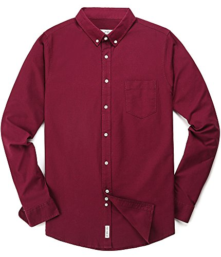 MOCOTONO CS-LY171-WR917-XL Men's Oxford Long Sleeve Button ...