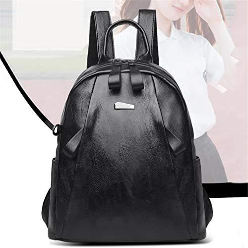 79047e9dfbf1 Women Simple Fashion Pu Leather Backpack Elegant Tablats School Bags For  Teenagers Girls