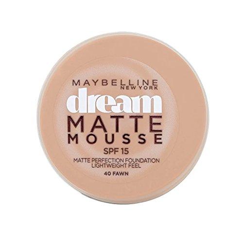 メイベリン夢のマットムース土台40子鹿の10ミリリットル x4 - Maybelline Dream Matte Mousse Foundation 40 Fawn 10ml (Pack of 4) [並行輸入品] B072HJ7WDH
