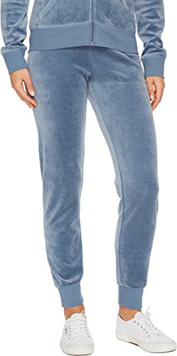 Juicy Couture Women's Zuma Velour Pants Dusty Navy Small 29