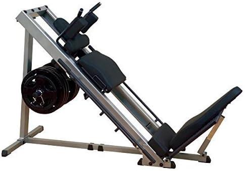 Body-Solid las piernas Prensa 45°/Muslos, 50mm, glph de 1100con Pesos (100kg/120kg)