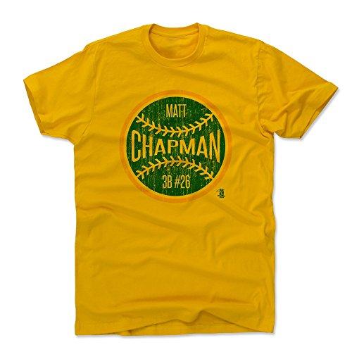 500 LEVEL Matt Chapman Cotton Shirt Large Gold - Oakland Baseball Men's Apparel - Matt Chapman Oakland Ball G