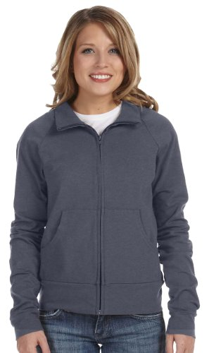 - Ladies' Cotton/Spandex Cadet Jacket, Color: Deep Heather, Size: X-Large
