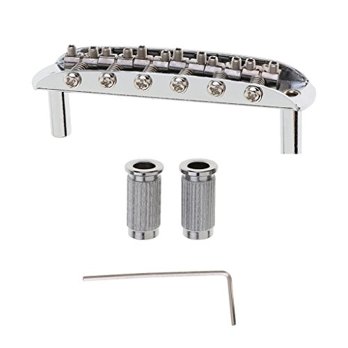Guitar Replacement Saddle Bridge with L-Shaped Wrench for Fender Mustang Jaguar Jazzmaster Electric Guitars Parts - - Jaguar Saddle