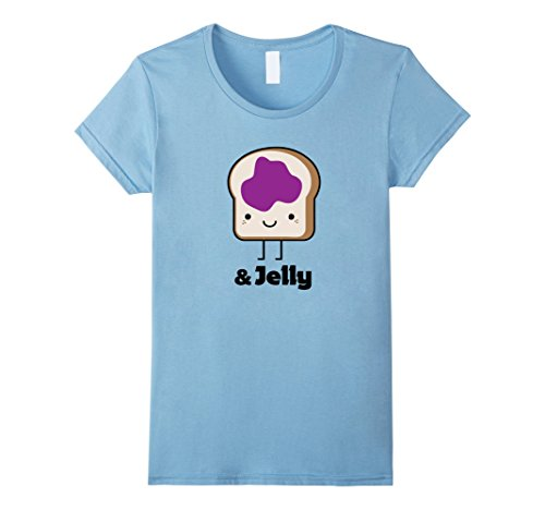Womens MATCHING SET Peanut Butter and Jelly Couples Friend Shirt XL Baby (Peanut Butter And Jelly Baby Halloween Costumes)